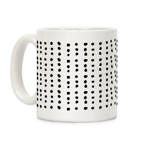 Polka Dot Black and White Minimalist Boho Pattern Coffee Mug