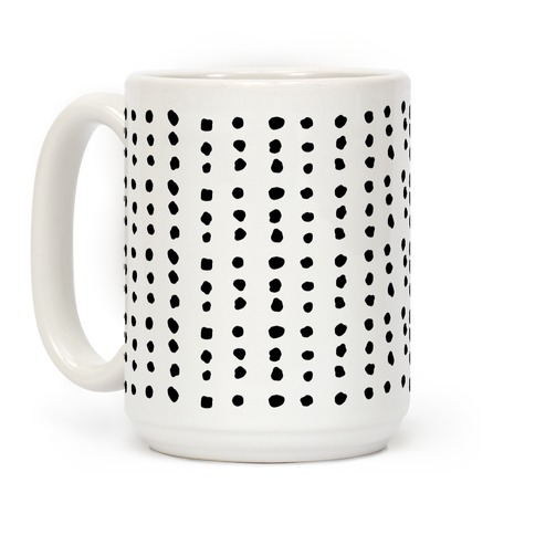 Polka Dot Black and White Minimalist Boho Pattern Coffee Mug