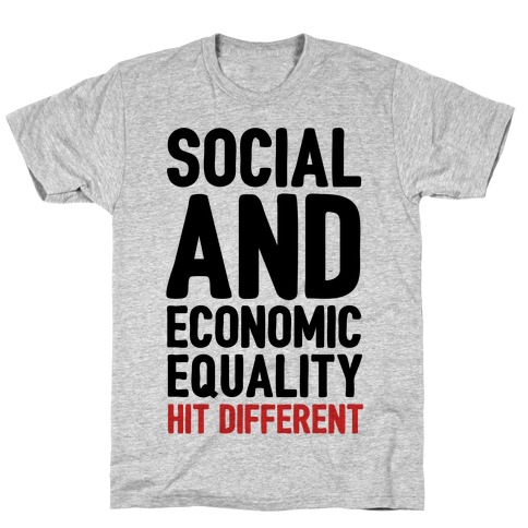 Social and Economic Equality Hit Different T-Shirt