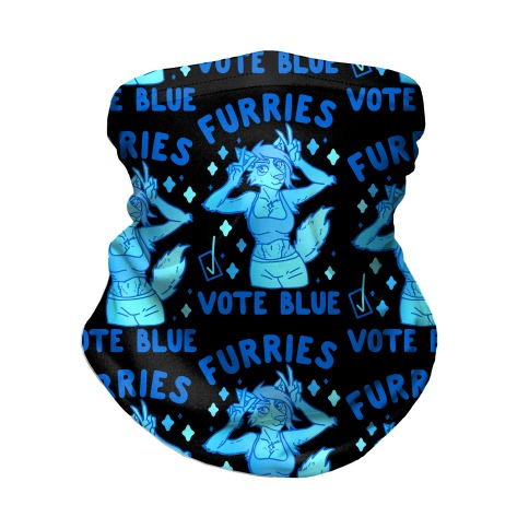 Furries Vote Blue Neck Gaiter