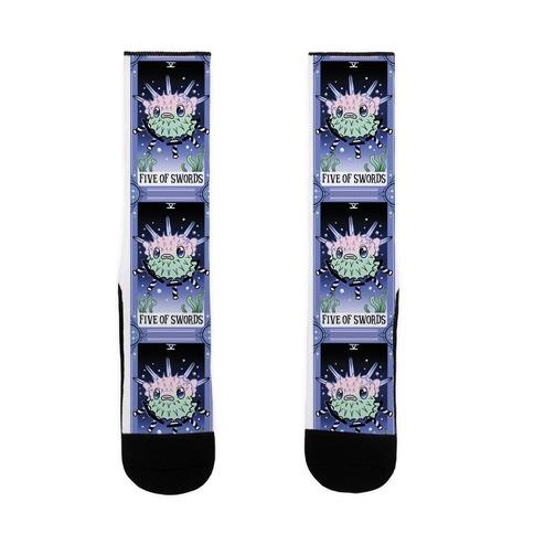 Creepy Cute Tarots: Five of Swords Sock