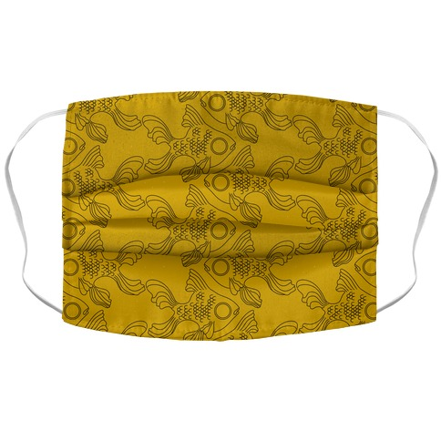 Goldfish Pattern Accordion Face Mask
