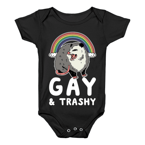 Gay and Trashy Possum Baby Onesy