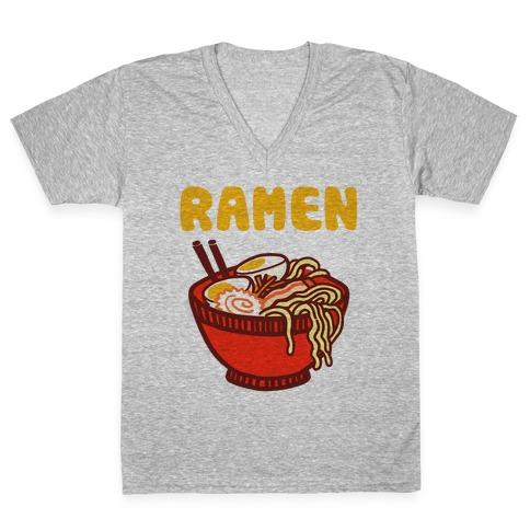 Ramen Noodle Bowl V-Neck Tee Shirt
