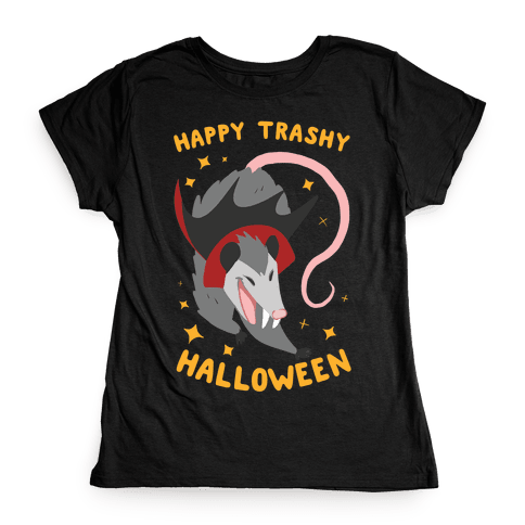 Happy Trashy Halloween Womens T-Shirt