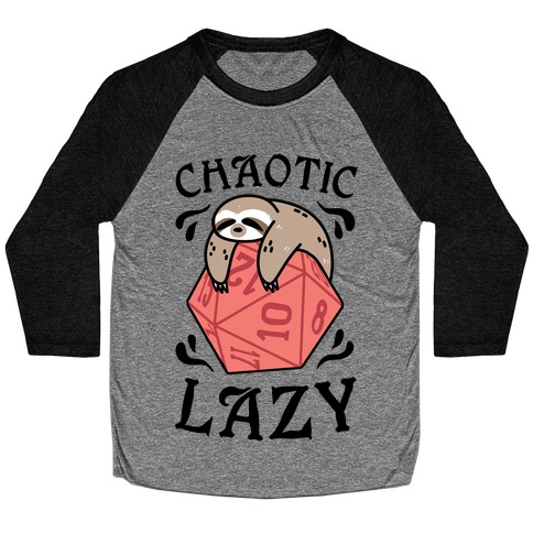 Chaotic Lazy Baseball Tee