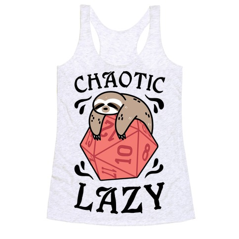 Chaotic Lazy Racerback Tank Top