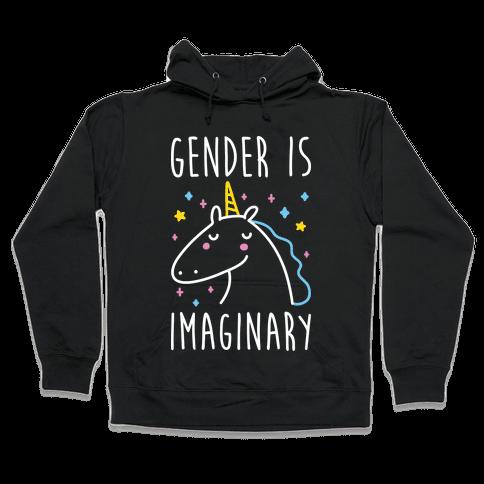 Gender Is Imaginary Unicorn Hooded Sweatshirt