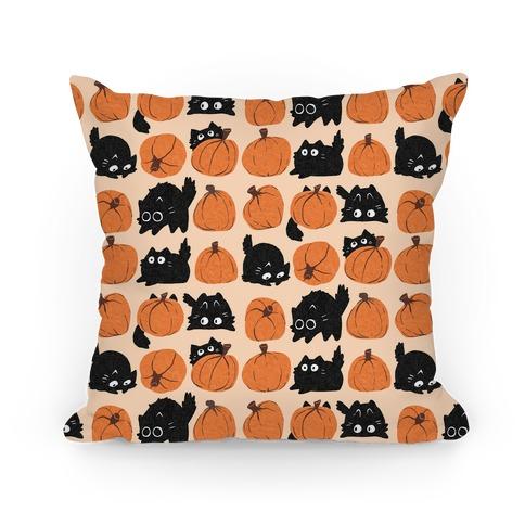 Pumpkin Cats Pillow