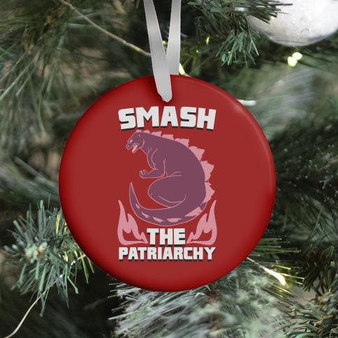 Smash the Patriarchy - Godzilla Ornament