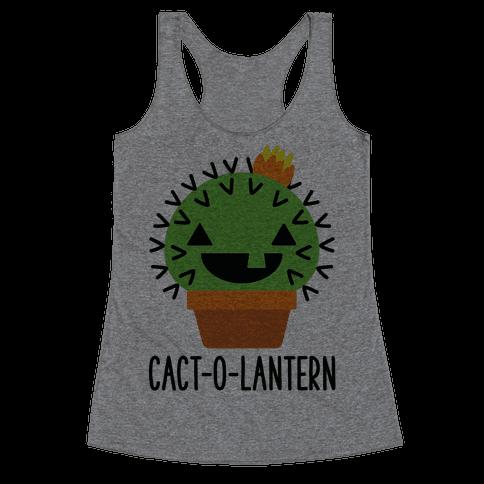 Cact-o-lantern Racerback Tank Top