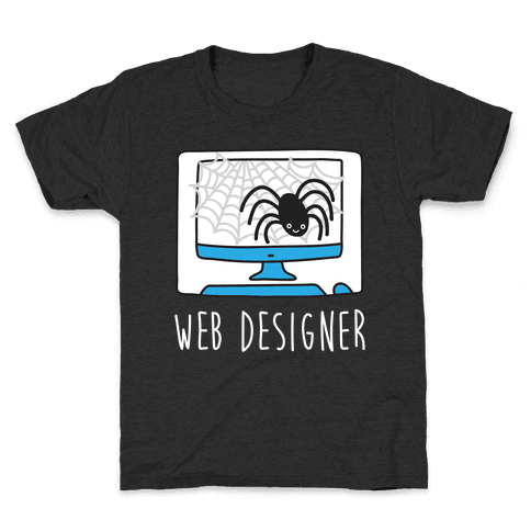 Web Designer Spider Kids T-Shirt