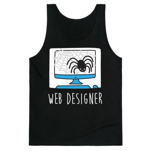 Web Designer Spider Tank Top