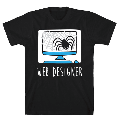 Web Designer Spider Mens T-Shirt