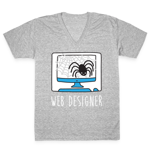 Web Designer Spider V-Neck Tee Shirt