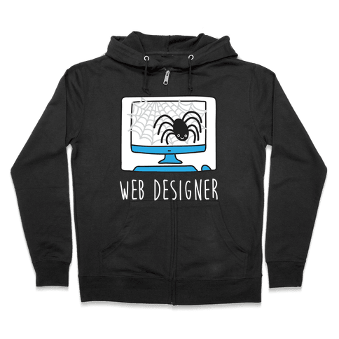 Web Designer Spider Zip Hoodie