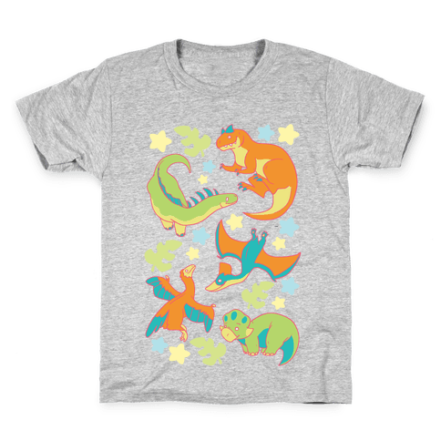 Funky Dinosaur Friends Kids T-Shirt