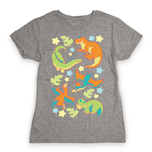 Funky Dinosaur Friends Womens T-Shirt