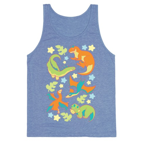 Funky Dinosaur Friends Tank Top