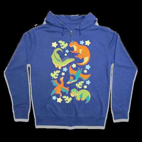Funky Dinosaur Friends Zip Hoodie