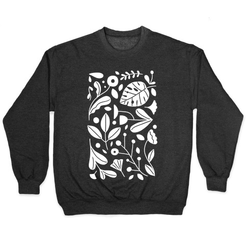 Black and White Plant Pattern Pullover