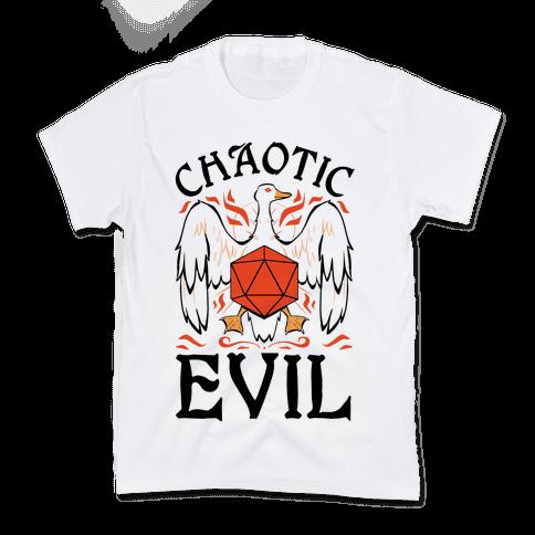 Chaotic Evil Goose Kids T-Shirt