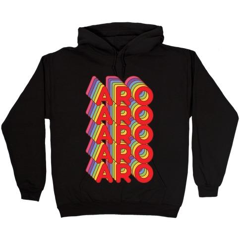 Aro Retro Rainbow Hooded Sweatshirt