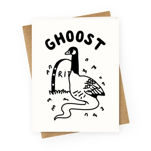 Ghoost Greeting Card