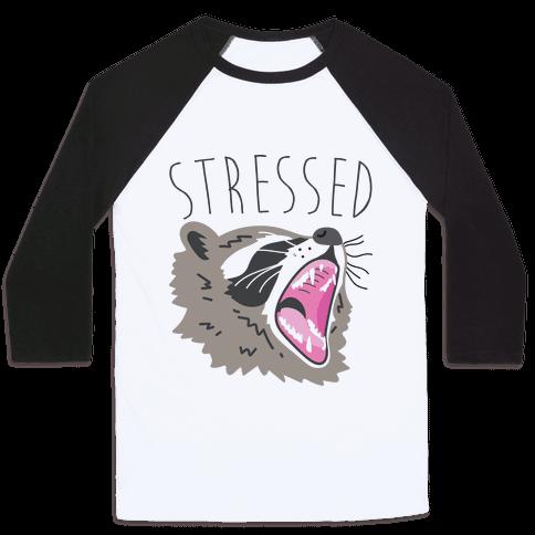 Stressed Raccoon Baseball Tee