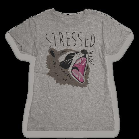 Stressed Raccoon Womens T-Shirt