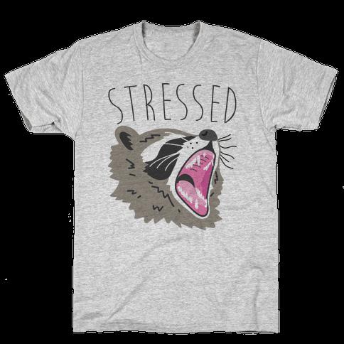 Stressed Raccoon Mens T-Shirt