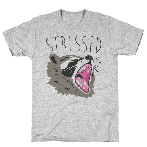 Stressed Raccoon Mens T-Shirt