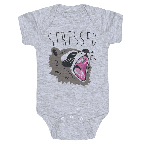 Stressed Raccoon Baby Onesy