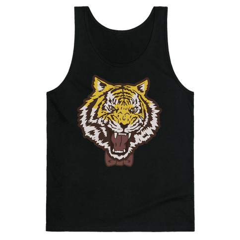 Tiger in a Bow Tie Tank Top