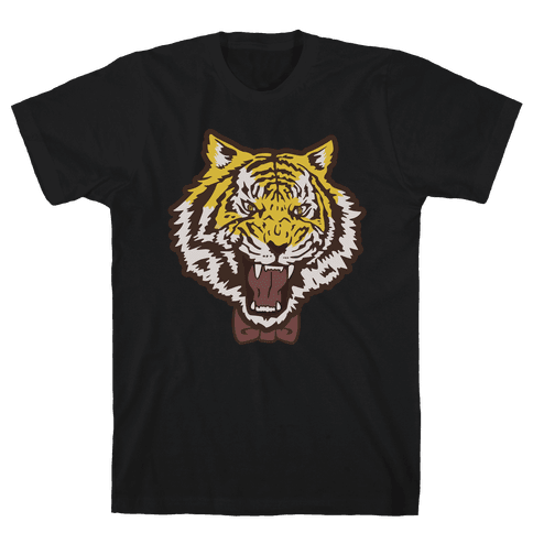 Tiger in a Bow Tie Mens T-Shirt