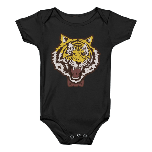 Tiger in a Bow Tie Baby Onesy