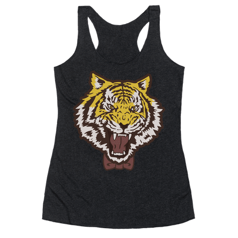Tiger in a Bow Tie Racerback Tank Top