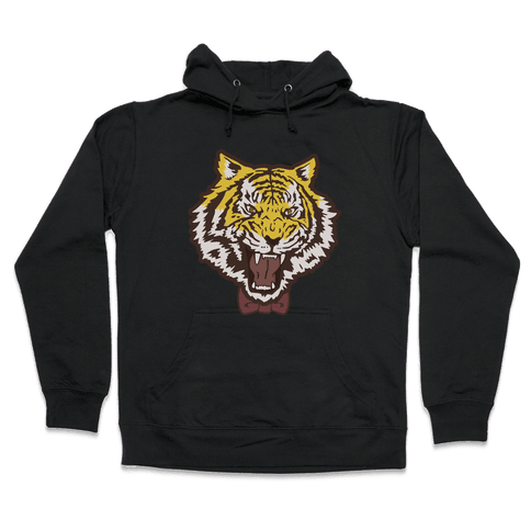 Tiger in a Bow Tie Hooded Sweatshirt