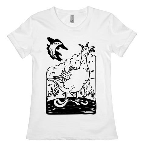 The Devil (Goose Parody) Womens T-Shirt