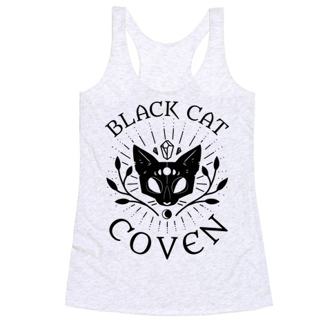 Black Cat Coven Racerback Tank Top