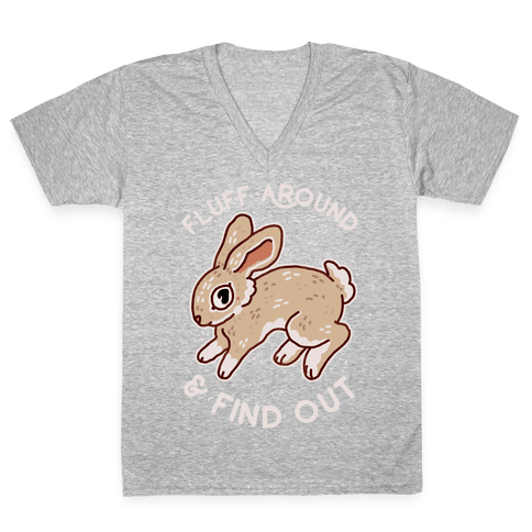 Fluff Around And Find Out V-Neck Tee Shirt