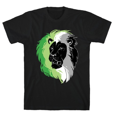 Aromantic Lion Pride Mens/Unisex T-Shirt