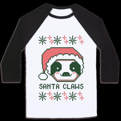 Santa Claws - Sloth Baseball Tee