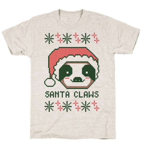 Santa Claws - Sloth Mens T-Shirt