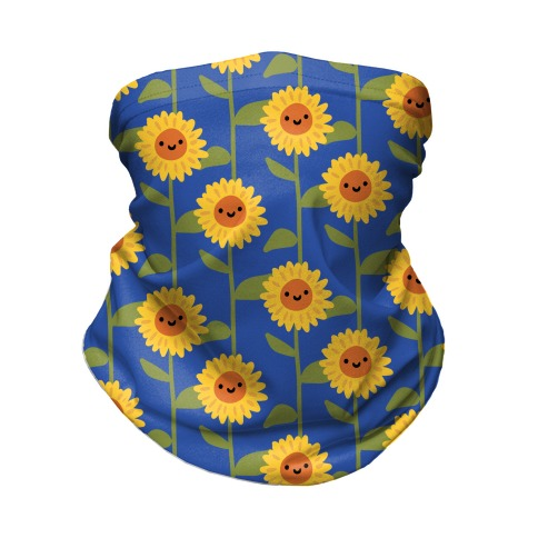 Happy Sunflower Pattern Neck Gaiter