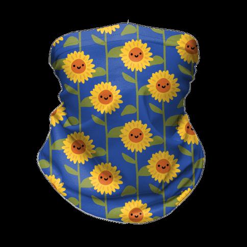 Happy Sunflower Pattern Neck Gaiter