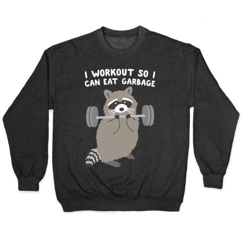 I Workout So I Can Eat Garbage Raccoon Pullover