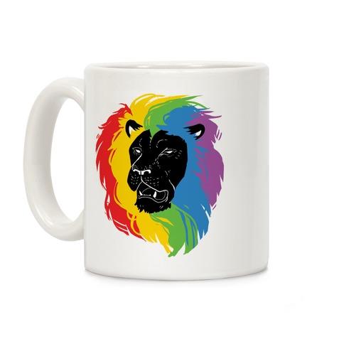 Rainbow Lion Coffee Mug