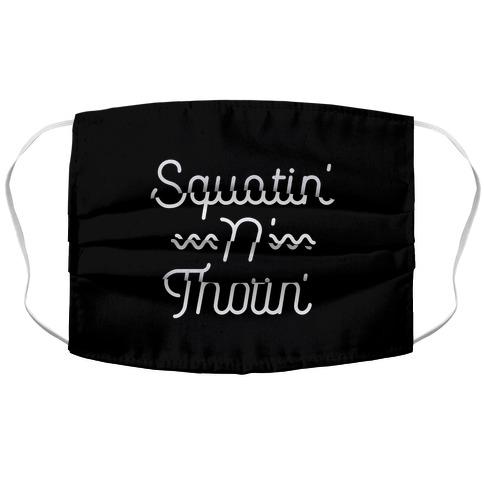 Squatin' n' Thotin' Accordion Face Mask