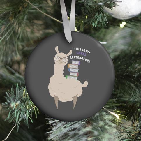 This Llam Loves Lliterature Ornament